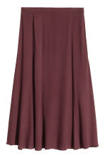 Flared skirt - Burgundy - Ladies | H&M CN 2